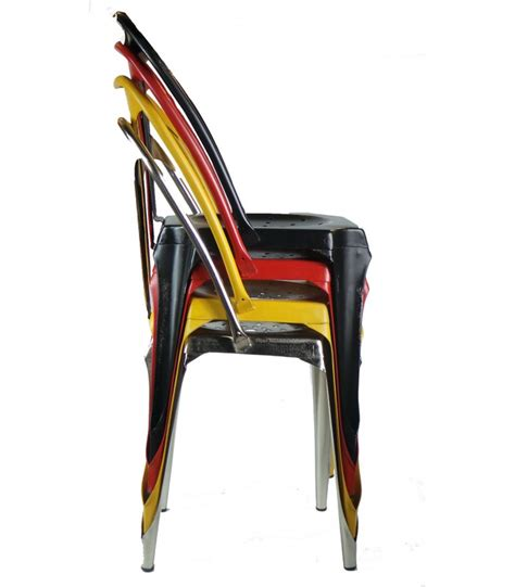 chaise m tal industriel industrial style chair in yellow vintage metal wadiga com