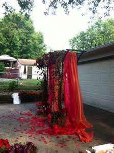 DIY Fall Outdoor Wedding Arch