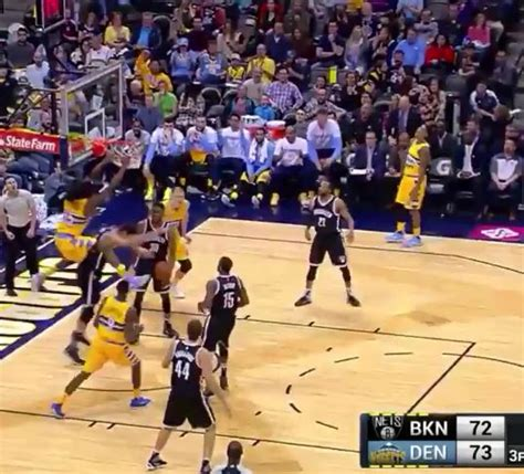 WATCH: Nikola Jokic Provides No-Look Feed to Kenneth Faried
