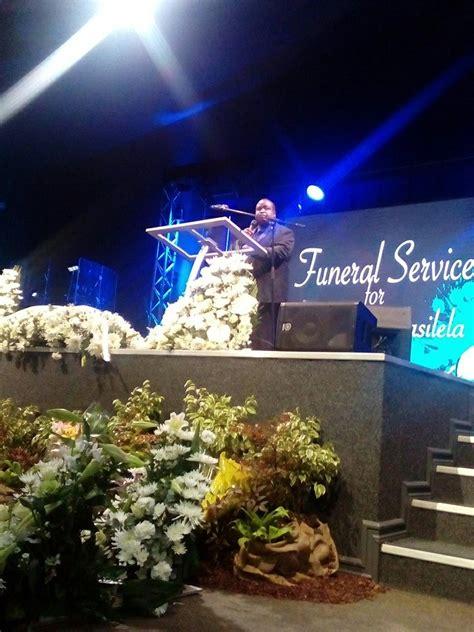 dumi masilelas funeral service   underway