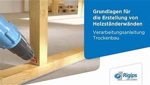 Holz Lackieren Anleitung : grundlagen f r die erstellung von holzst nderw nden mit rigips verarbeitungsanleitung ~ A.2002-acura-tl-radio.info Haus und Dekorationen