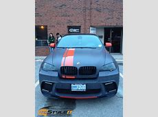 BMW X6 Orange Stripes Vehicle Customization Shop Vinyl