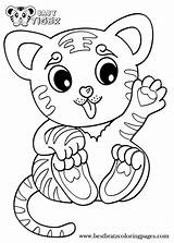 Coloring Tiger Baby Pages Cute Printable Cubs Tigers Drawing Animals Animal Sheets Popular Tigger Head Colouring Babies Getdrawings Bratz Books sketch template