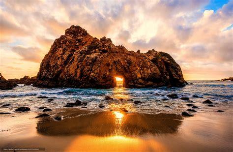 asus bureau tlcharger fond d 39 ecran coucher du soleil mer roche arc
