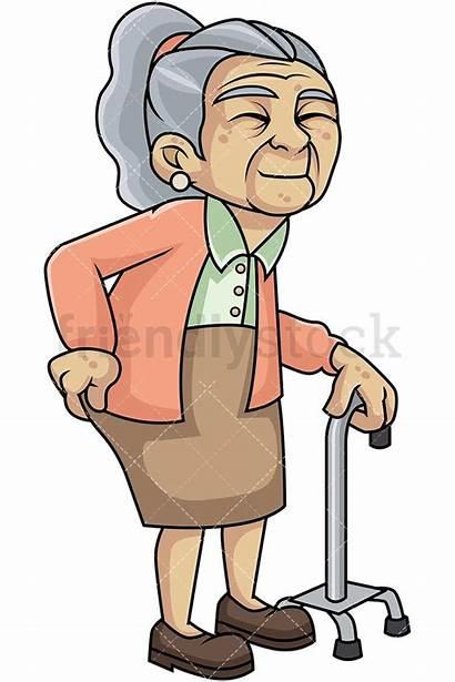 Clipart Weak Woman Lady Hip Pain Walking