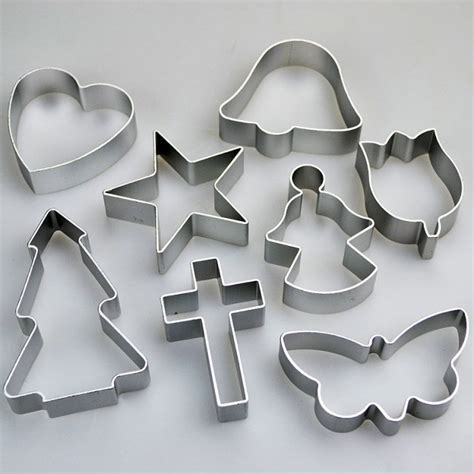 set   religious shapes cookie cutters cross angel