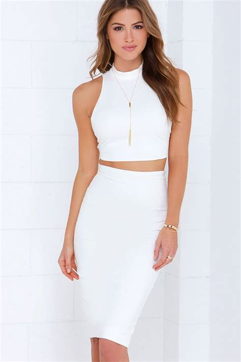 All in the Details Ivory Bodycon Two-Piece Dress | Two ...