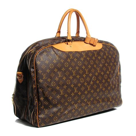 louis vuitton vintage monogram alize  compartment luggage