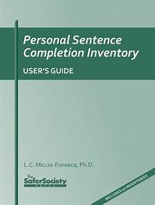Personal Sentence Completion Inventory User U2019s Guide