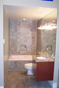 Big Wall Mirror with Wall Lamp Stone Tile Decorating