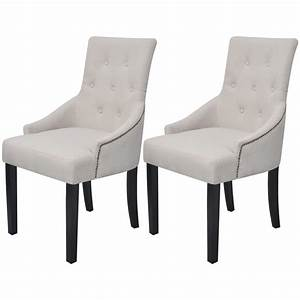Chaises De Couleur Pour Salle A Manger : la boutique en ligne vidaxl 2 chaises pour la salle manger polyester cr me ~ Teatrodelosmanantiales.com Idées de Décoration