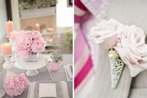 Deco Table Rose Et Gris : decoration de mariage grise ~ Melissatoandfro.com Idées de Décoration
