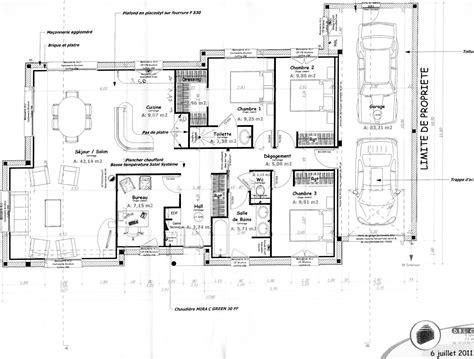plan de maison plain pied 3 chambres gratuit plan d intérieur de maison