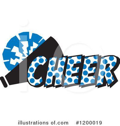 Blue Cheer Megaphone Clipart Royalty Free Rf Illustration Cheerleading Clipart 1200019 Illustration By Johnny Sajem