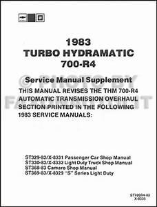 1983 Chevy Transmission Shop Manual El Camino Monte Carlo
