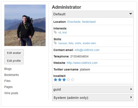 Manager Profile Sle by Profile Manager Elgg Org