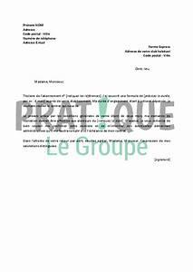 Modele De Resiliation Assurance : modele lettre resiliation fitness park document online ~ Gottalentnigeria.com Avis de Voitures
