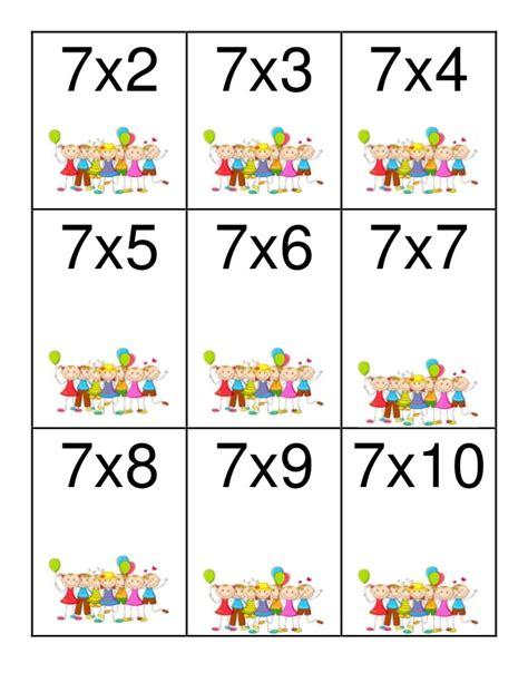 loteria didactica tablas de multiplicar 2 al 9