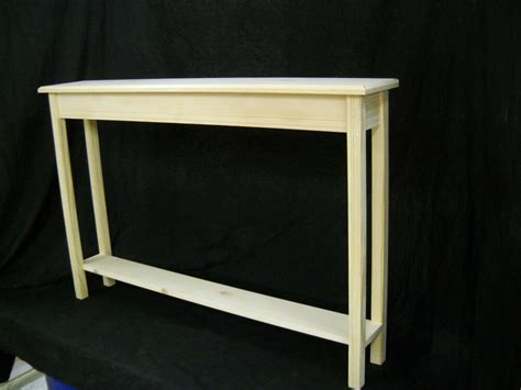 Narrow Sofa Table by Unfinished 46 Quot Narrow Console Sofa Foyer Beveled Edge