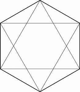 File Hexagon With Diagonals Svg