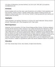 kitchen help on resume resume kitchen help