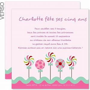 Faire Part Anniversaire 60 Ans : carte d 39 invitation anniversaire fille a imprimer ~ Edinachiropracticcenter.com Idées de Décoration