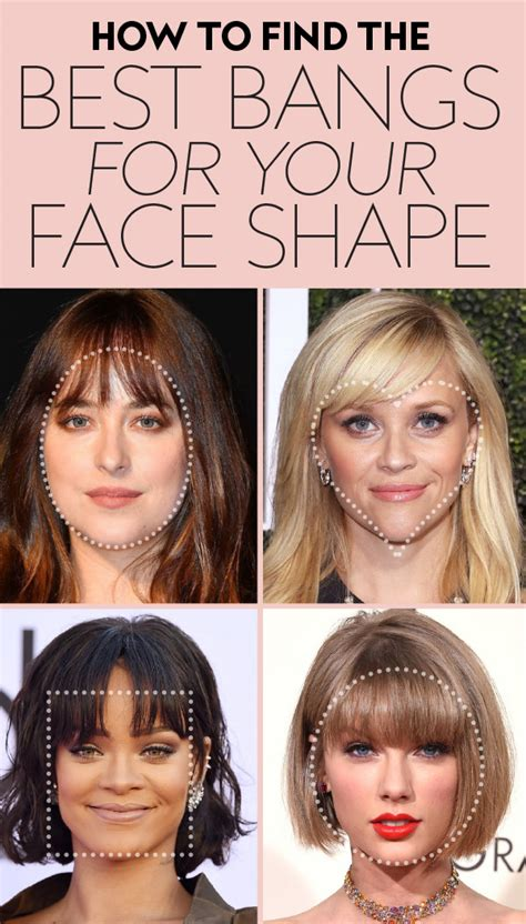 find  perfect bangs   face shape instylecom
