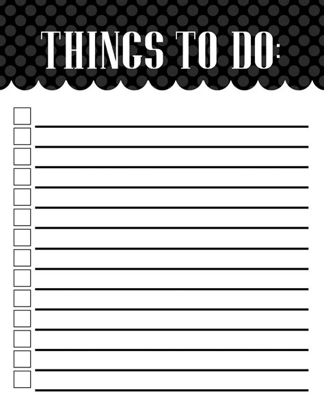 things to do template mckell s closet to do list