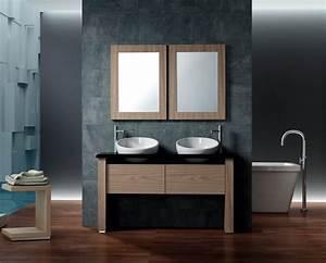 meuble salle de bain 2 vasques bois massif haut de gamme With meuble de salle de bain haut de gamme
