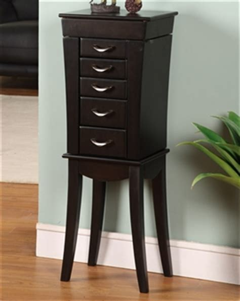 Black Standing Jewelry Armoire by Curved Black Wood Floor Standing Jewelry Box Armoire