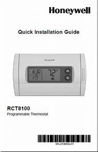 Honeywell Rct8100 Programmable Thermostat Installation