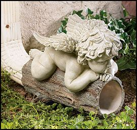 angels cherub downspout
