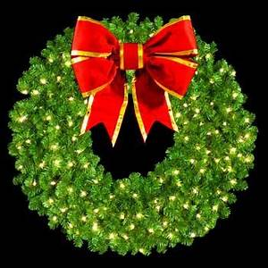300 Led Mini Lights Christmas Large Wreaths 60 Quot Pre Lit Mountain Pine Wreath