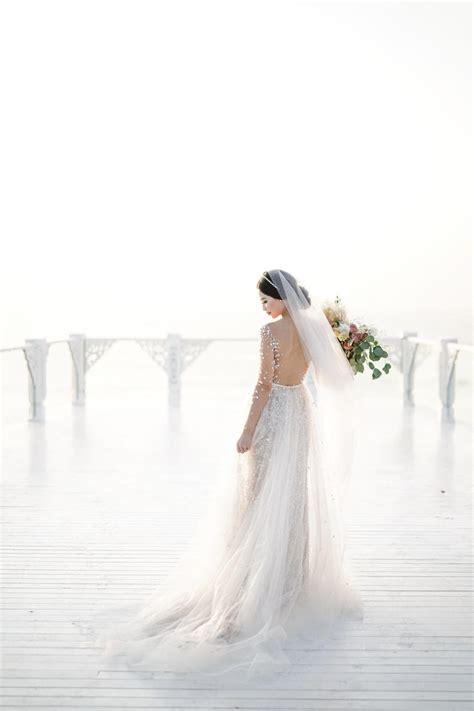 glamorous ivory  blush bali wedding  striking
