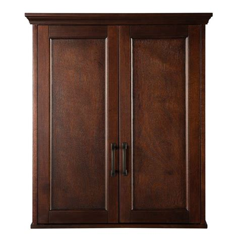 Mahogany Bathroom Wall Cabinet by Home Decorators Collection Ashburn 23 1 2 In W Bathroom