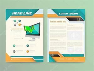 Brochure Cover Design Templates  Abstract Flyer Modern