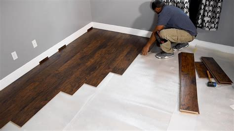 install laminate flooring  beginners youtube