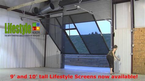 Lifestyle Screens Adds 9'H and 10'H Garage Door Screen