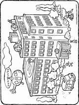 Hospital Drawing Colouring Kiddicolour Drawings Getdrawings Paintingvalley sketch template