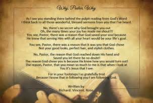 Appreciation Pastor Anniversary Poems