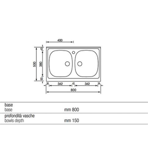 lavello cucina dimensioni misure lavello cucina due vasche