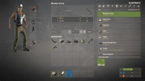 rust game steam pc account inventory ru gift region cis install interface craft late crafting screen
