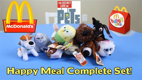The secret life of pets is preceded by a short film starring the minions, in which those irrepressible yellow gelcaps take up landscaping so they can a more daring movie would have ventured beyond fat, pampered house cats and scrawny alley predators in its depiction of them. Secret Life of Pets McDonald's Happy Meal Blind Bag #7-10 ...