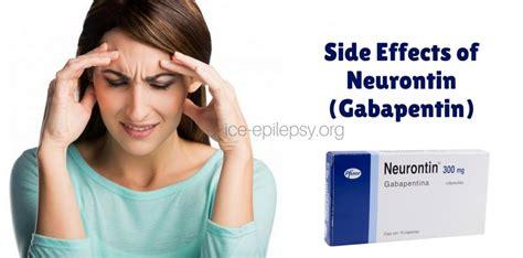 side effects  neurontin gabapentin epilepsy