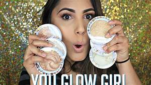 "J CAT BEAUTY ""YOU GLOW GIRL"" BAKED HIGHLIGHTERS SWATCHES ..."
