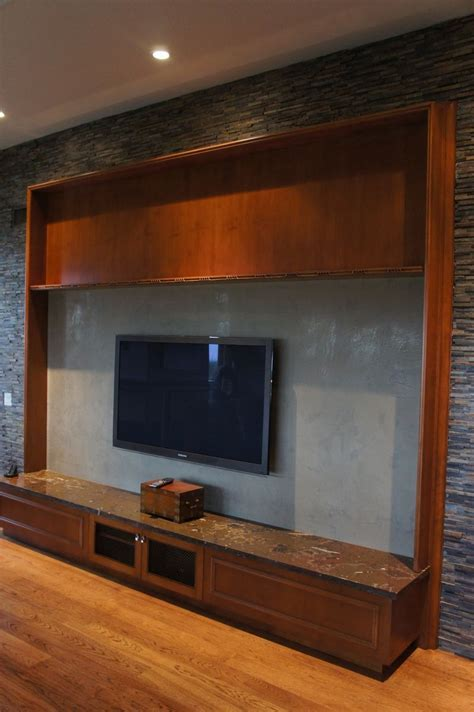 Hand Made Custom Entertainment Center by Woodworking Oc