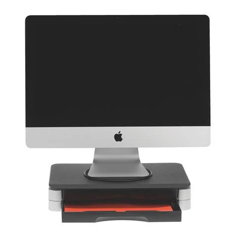 support ecran pc pour bureau support écran design 2 tiroirs supports écran bureau