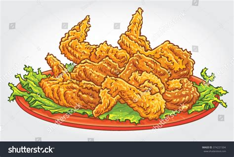 Fried Chicken Wings Cartoon