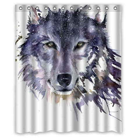 brand  wolf shower curtain     ebay