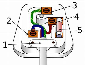 File Three Pin Mains Plug  Uk  Svg